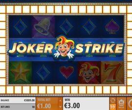 Upplev hi roller effekten på joker strike sloten!