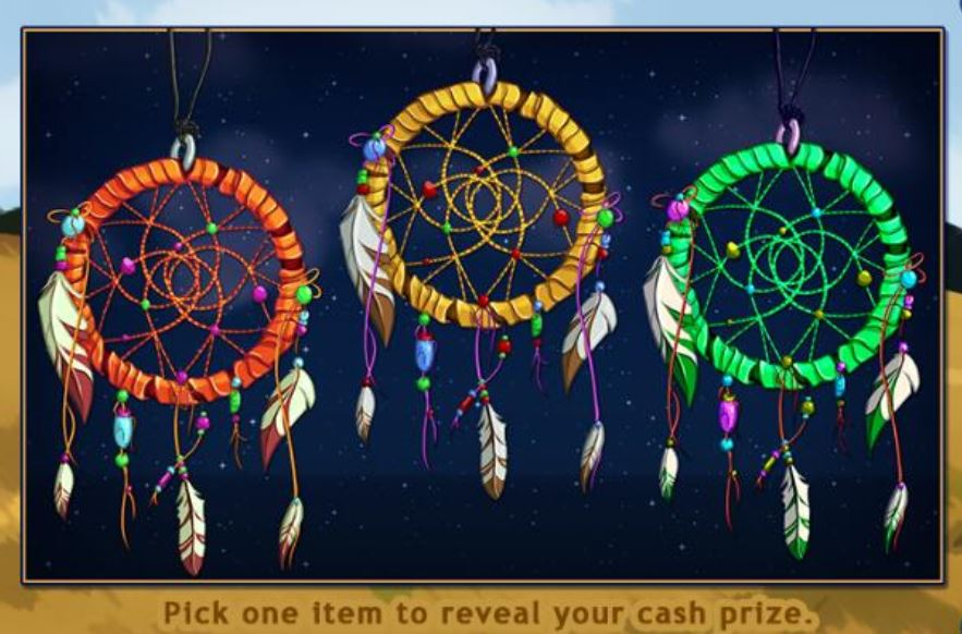Win a days dream catcher slot